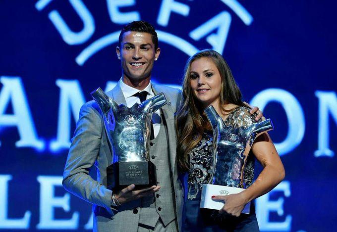 Cristiano Ronaldo dominó los premios de la UEFA Champions League #Deportes #Fútbol