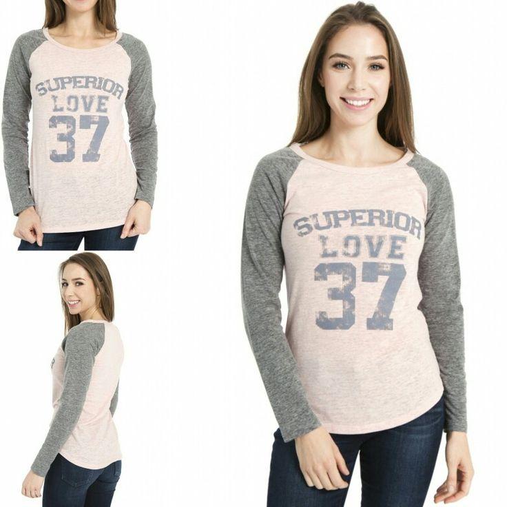 Vivilish SUPERIOR LOVE LONG-SLEEVE BASEBALL TSHIRT (PT279) 3 colors available now @ vivilish.com #vivilish #baseball #baseballshirt #distress #raglan #basic #basicwear #essentialwear #casualwear #fashion #fashiontop #undershirt #layer #longsleeve #stretch #favoritesweatshirt #favoritetop #shirt #shirts #losangeles #fitted #fittedshirt #crewneck #superior #love #37 #loungewear #l4l #f4f #ootb