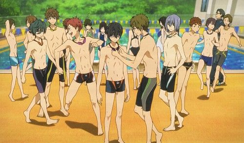 Kyoto Animation, Free!, Asahi Shiina, Makoto Tachibana, Natsuya Kirishima (Summer Days Anime)