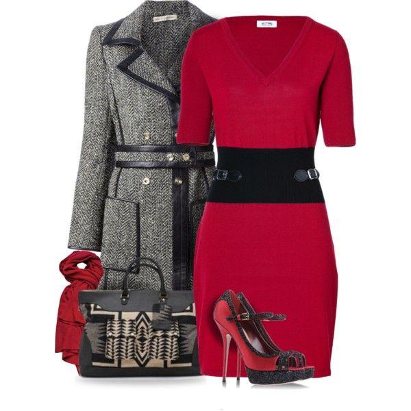 Balenciaga Belted Tweed Coat by yasminasdream on Polyvore featuring Moschino Cheap & Chic, Balenciaga, Sebastian Professional, +Beryll and Trilogy