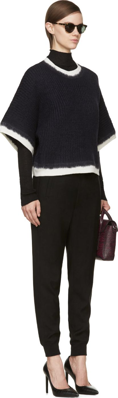 3.1 Phillip Lim Navy Dip-Dye Sweater