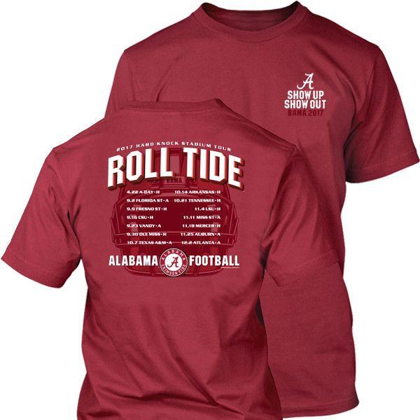 Alabama 2017 Football Schedule Tee