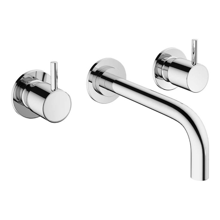Crosswater Mike Pro 3 Hole Wall Mounted Basin Mixer Tap   PRO130WNC   Drench