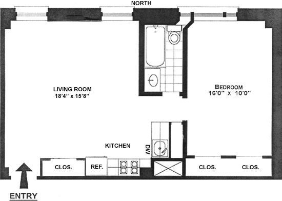 The floor plan of our new UWS apartment. A palatial 650 ...
