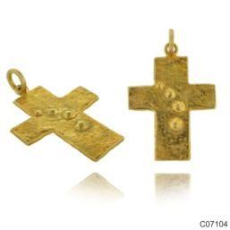 Σταυρός Κ14 από κίτρινο χρυσό. 28x24χιλ. #marizaart #greekart #art #greece