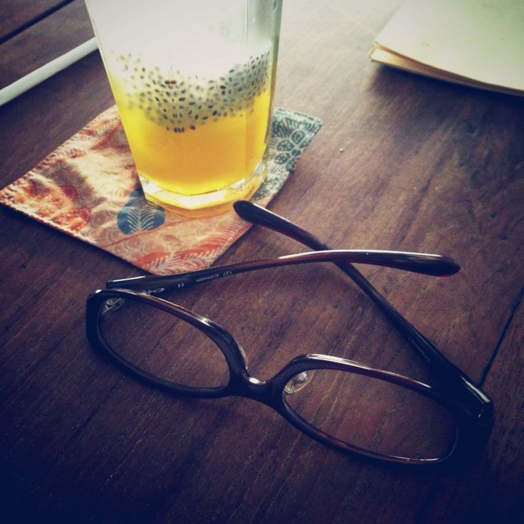 Glasses Journey with Passion Fruit Soda