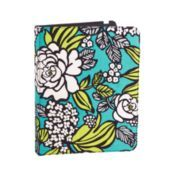 Tablet folio from Vera Bradley conveniently opens like a book and has an interior pocket for notes