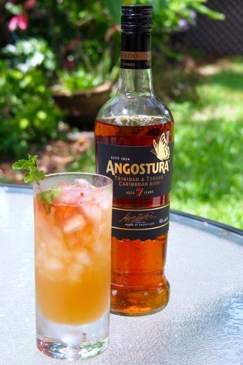 ... Toasting TT50 with a Queen's Park Swizzle   Rum, Trinidad and Queen