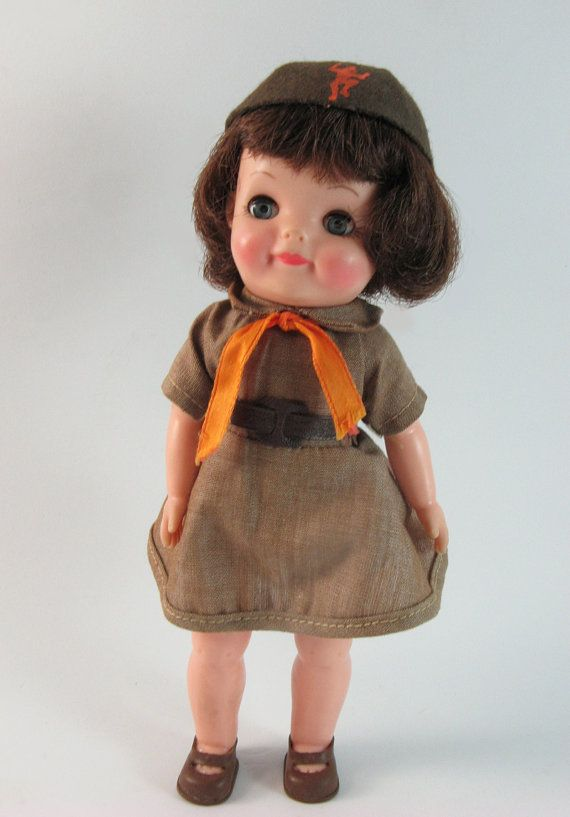 1965 Toys For Boys : Vintage official brownie girl scout doll by effanbee