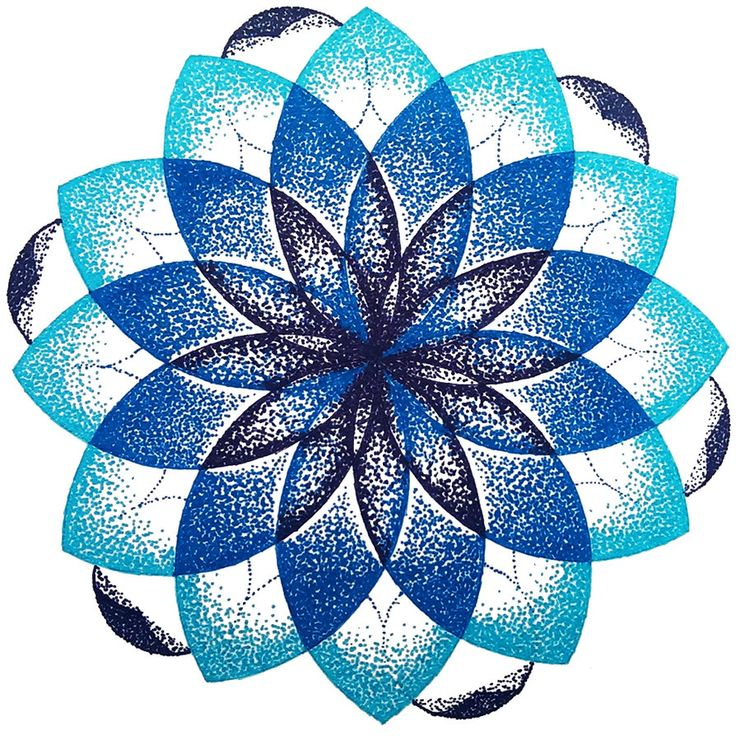 Blue dotted mandala by M-Curiosity on deviantART