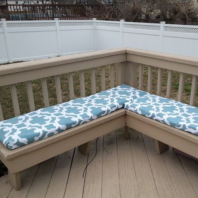 Easy No Sew And Budget Friendly Bench Cushions For Patio