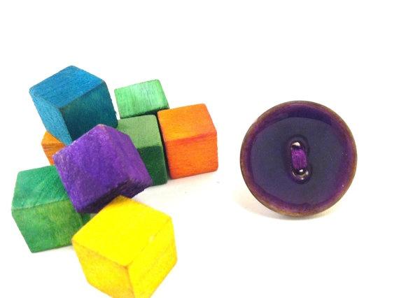 Purple button ring