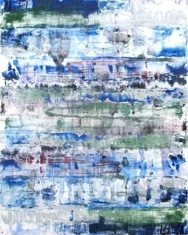 Monroe Hodder | Other Worlds II | Watercolour & Oil Monotype | 30 x 25 inches | £2,500
