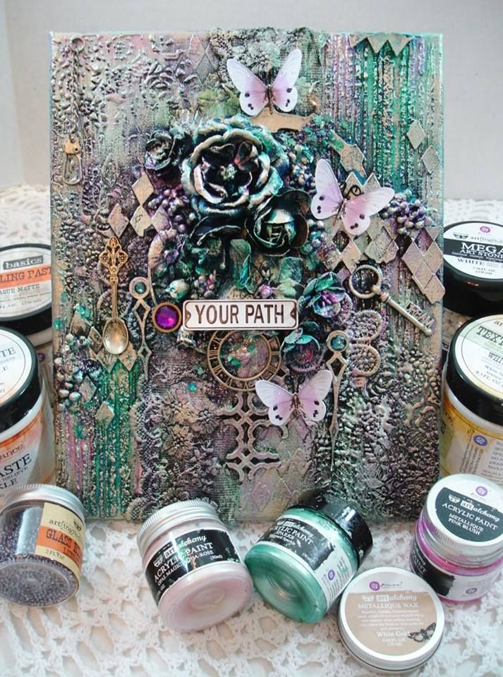 Ready for some Monday Morning Mixed Media?? Check out this DELICIOUS Reneabouquets Design Team Project (and process video posted below) By Artist Phyllis Fernandez~A Mixed Media Canvas created with products that you can find at Reneabouquets.com. Shop here: http://www.Reneabouquets.com or here: http://www.Etsy.com/shop/Reneabouquets