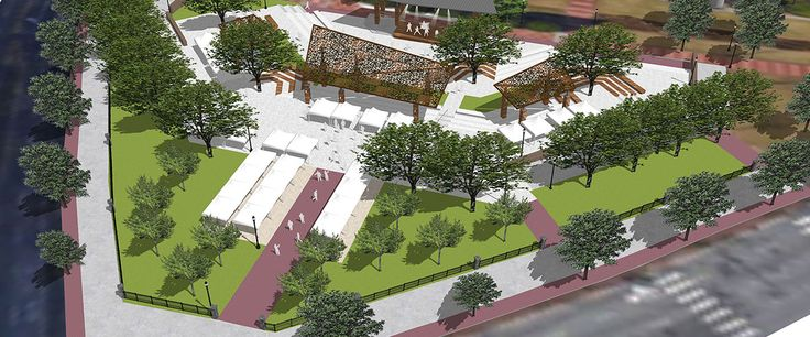 Fresh renderings for downtown Atlanta's Centennial Olympic Park show striking transformation  - Curbed Atlantaclockmenumore-arrownoyes : Early phases are wrapping up, while new events facility, plaza, and amphitheater will start construction next year