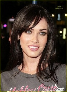 megan fox side bangs