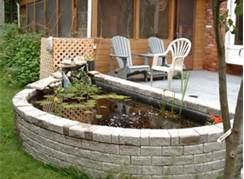 Above Ground Patio Ponds - Bing Images