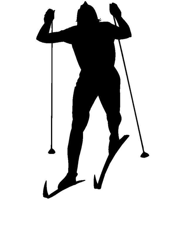 cross country skier silhouette woman - Google Search