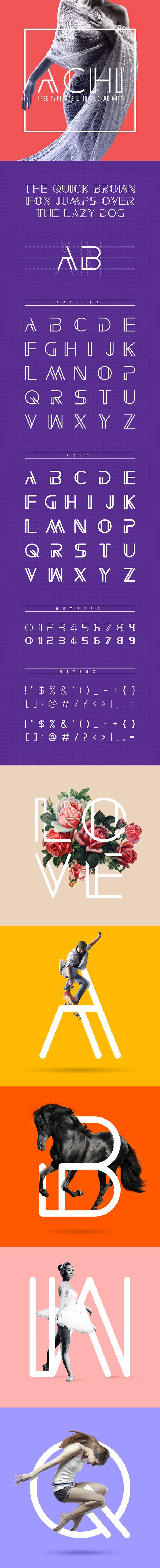 Free Font Of The Day : Achi
