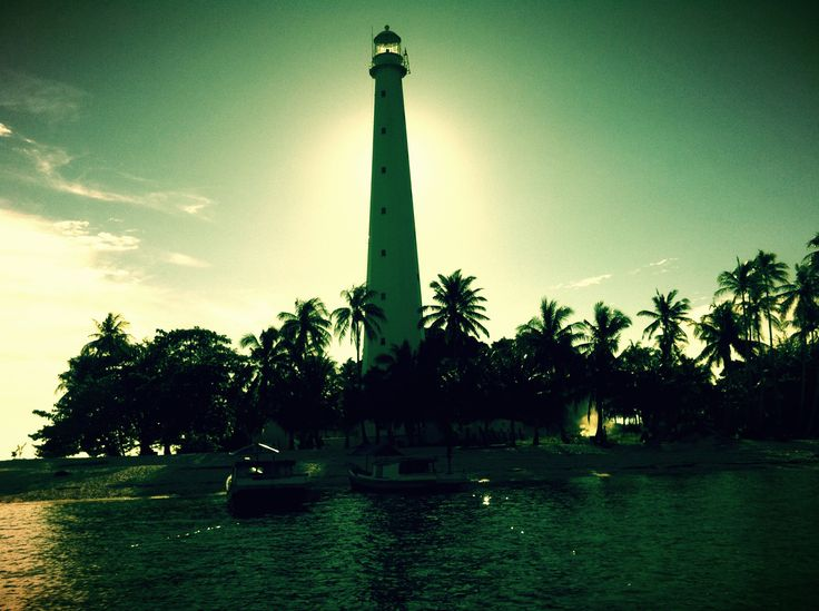 visiting the lighthouse family, Lengkuas Island, Belitong