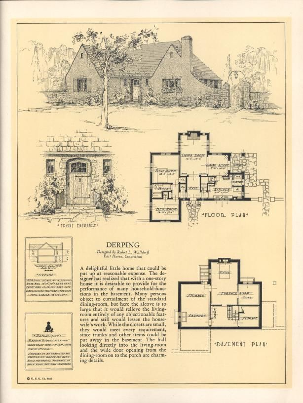 Seventy Two Designs For Fireproof Homes House Plans 1900