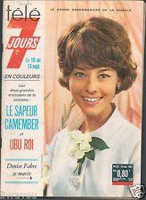 Télé 7 Jours 287 /1965 Denise Fabre, à 80 centimes, environ 12 cents d'euros...!!!
