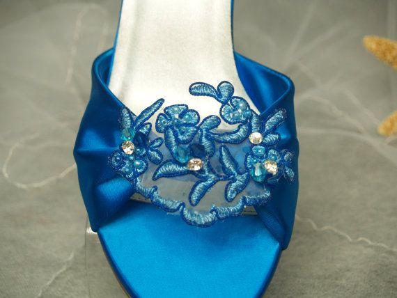 Hochzeit Schuhe Türkis Deep Blue oder anderen Farben von NewBrideCo