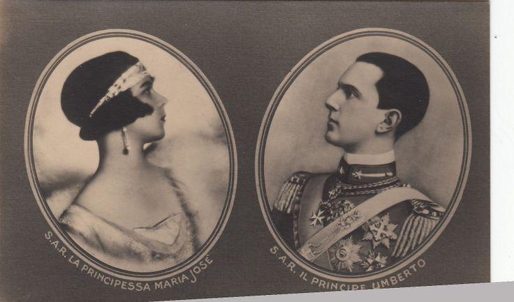 Kronprinz Umberto v Italien Savoyen m Braut Przin Maria Jose v Belgien 1930
