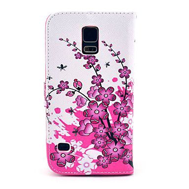 Spicebush kukkakuvio PU Leather Full Body Case-korttipaikka Samsung Galaxy S5 I9600 – EUR € 6.99