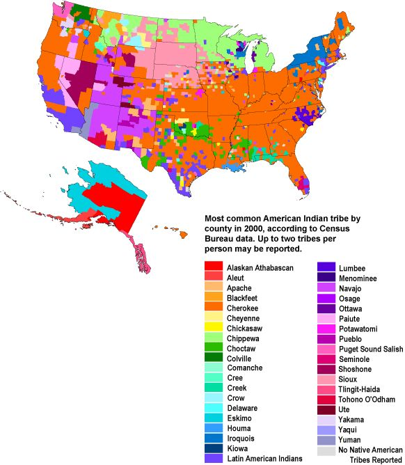 CensusScope -- Demographic Maps: Native American and Alaskan Native Tribes