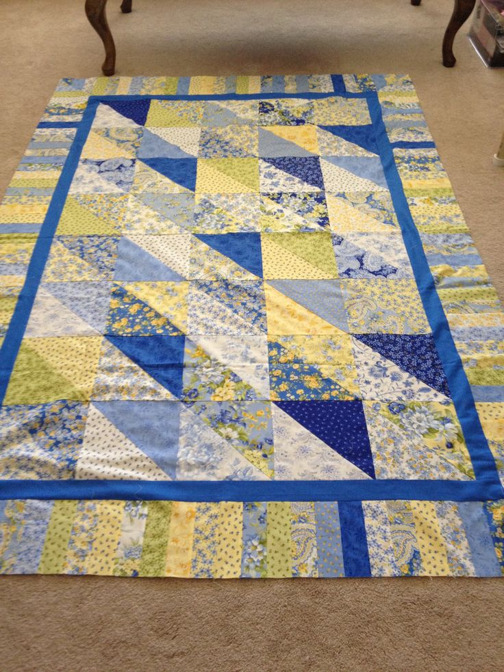 "Eleanor Burns Quilt in a Day ""Dessert Time Quilt"", made with Summer Breeze fabrics"