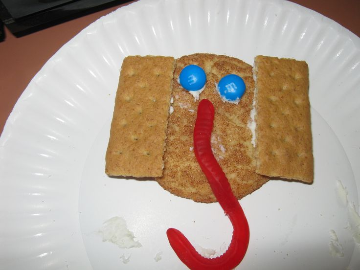 Letter E - Elephant snack