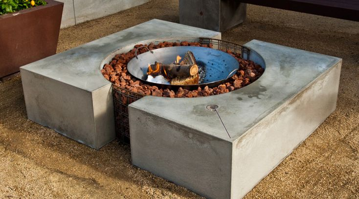 Image result for concrete fire pit