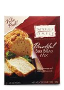 BOUNTIFUL BEER BREAD  Our signature bread mix is so simple to make - no kneading, no rising time, nothing to add but beer or any carbonated beverage. Everyone's favorite beer bread now comes in a 3-pack. A great savings! (0g trans fat per serving) www.tastefullysimple.com/web/nadkins1