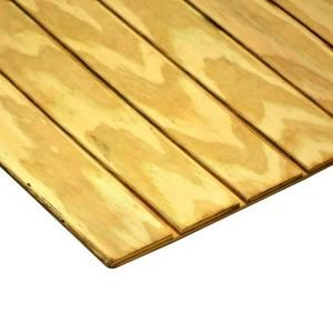 19/32 in. x 4 ft. x 8 ft. T1-11 4 in. On-Center Pressure-Treated Plywood-105595 at The Home Depot