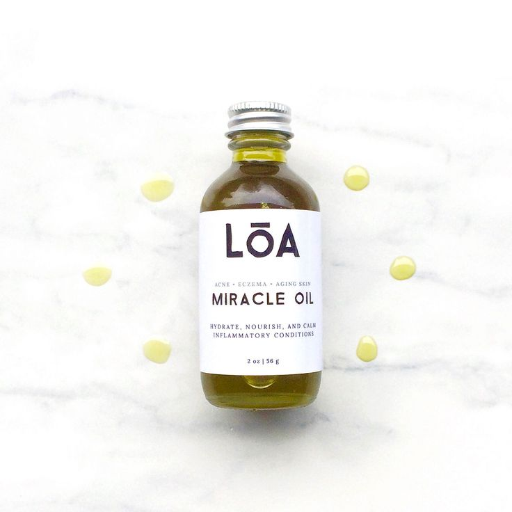 ✨ Drastically improve Acne, Eczema, and Psoriasis with Miracle Oil ✨ Most people with these conditions have an Omega-6 Essential Fatty Acid deficiency in their skin. Miracle Oil combines over 15 organic botanicals to deeply hydrate, nourish and calm inflammatory skin conditions. It's enriched with Omega-3 and 6 Essential Fatty Acids and cell-regenerating Phytonutrients, which have been clinically verified to significantly improve acne, eczema, psoriasis, and dry skin.