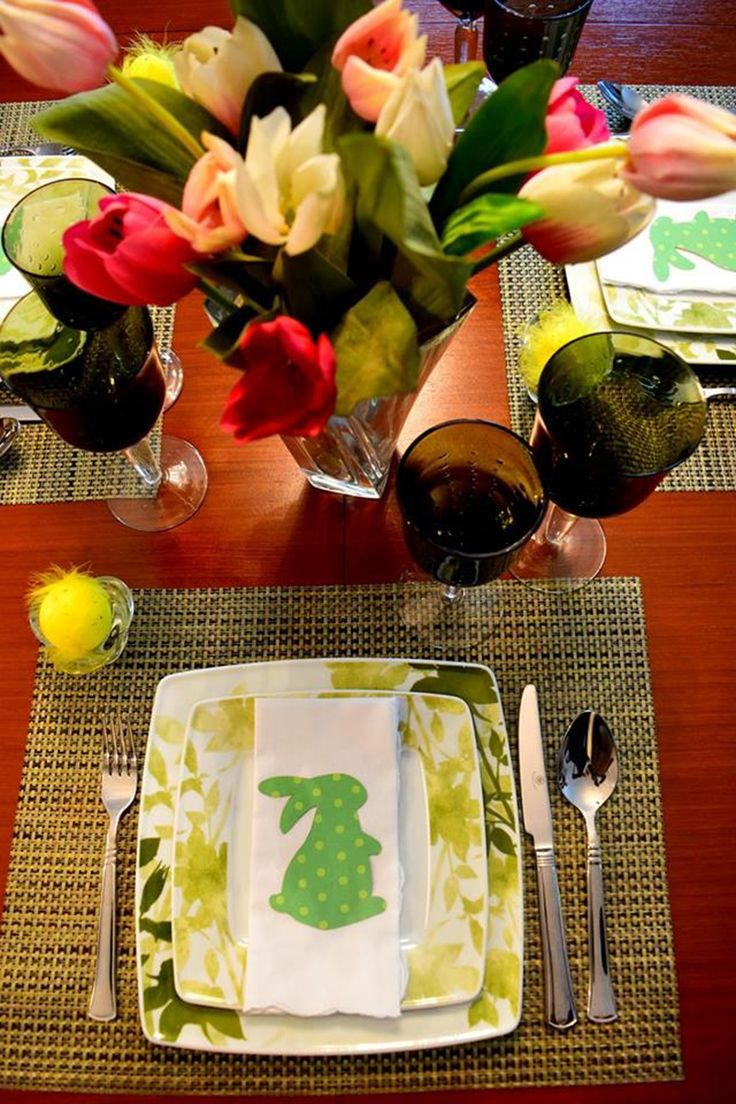An Easter table setting.