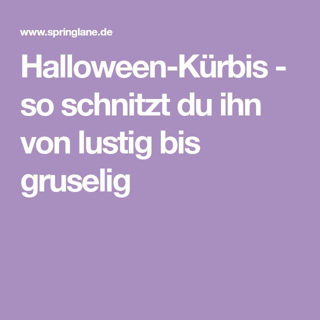 Halloween-Kürbis - so schnitzt du ihn von lustig bis gruselig