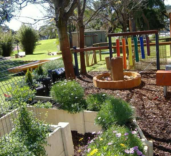 Treasure Island child care sensory garden - what a great example of incorporating a sensory garden into a child care facility