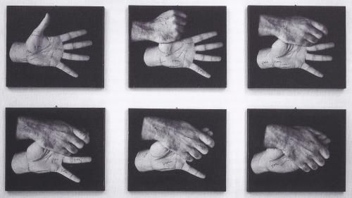 Ketty La Rocca Le mie parole, e tu?, 1971-1972 Black & white photographs and ink on aluminium Galleria Emi Fontana / Sammlung Verbund, Vienna