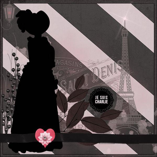 Je Suis Charlie by DogArtist. Kit used: Paris Bistro http://scrapbird.com/designers-c-73/a-c-c-73_514/aadesigns-c-73_514_395/paris-bistro-bundle-by-aadesigns-p-12103.html