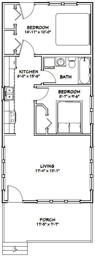 18x40 tiny house 720 sqft pdf floor plan model 3c Tiny house floor plan kit