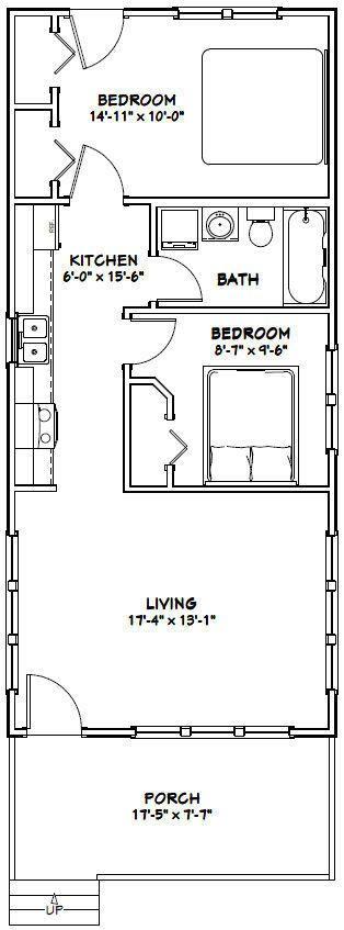 18x40 tiny house 720 sqft pdf floor plan model 3c Tiny house floor plan kit