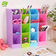 1 stück Kunststoff Desktop Storage Box 4 Grids Stift Bleistift Geschirr Organizer Box Make-Up Kosmetische Lagerung Unterwäsche/Socken Finishing box