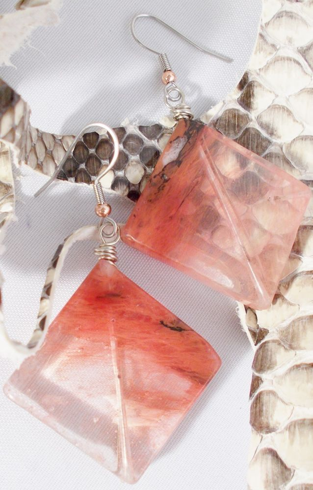 BOGO  Cherry Quartz Crystal Dangle Artisan Earrings #JNorahz #DropDangle