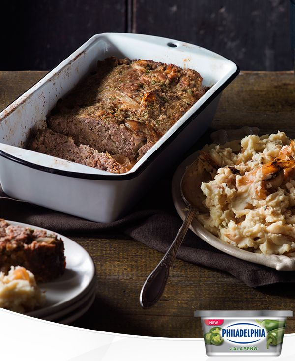 The combination of caramelized onion, bacon and cream cheese is so good we decided that one recipe with them wouldn't be enough. This meal of Caramelized Onion and Bacon Mashed Potatoes and Meatloaf is the perfect way to welcome cozy comfort food back into your life.