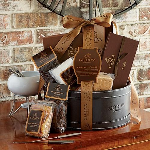 BucksBee Redeem Mall/ Kitchen and Gourmet Food/ Godiva Chocolate Fondue Gift Basket: Gift Baskets, Gourmet Food, Chocolate Fondue, Food Group, Fondue Gift Basket, Yummy Chocolate, Godiva Chocolate, Kitchen, Food Drinks