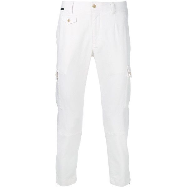 Dolce & Gabbana cropped cargo trousers ($935) ❤ liked on Polyvore featuring men's fashion, men's clothing, men's pants, men's casual pants, white, mens white pants, mens patterned pants, mens leopard print pants, dolce gabbana mens pants and mens zipper pants