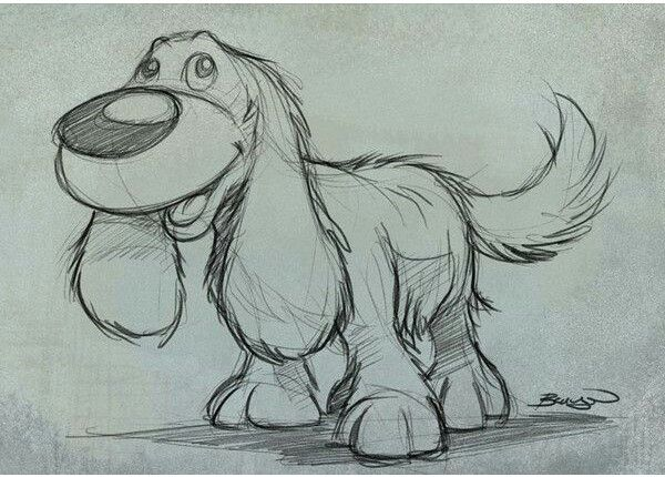 Cute dog sketch