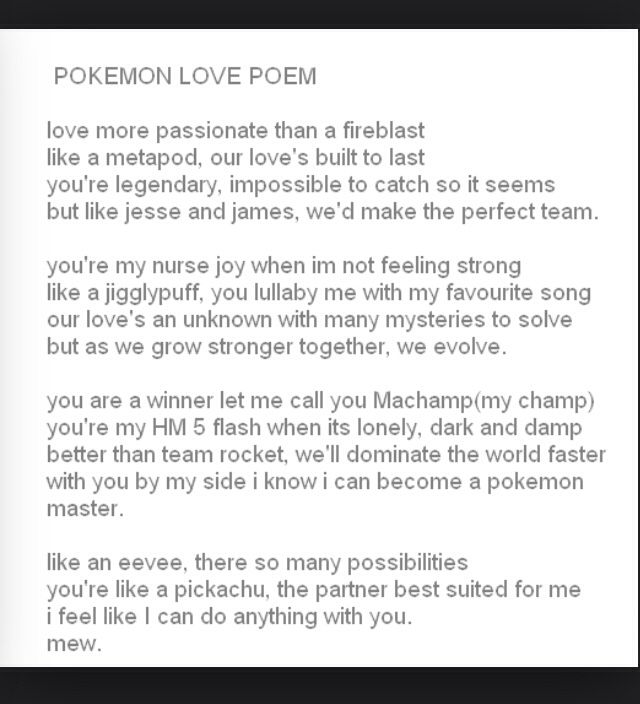 The Best Pokemon Poem Ideas On Pinterest Evolutions Of Eevee - Impossible poem